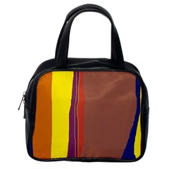 Colorful lines Classic Handbags (One Side)