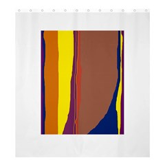 Colorful lines Shower Curtain 66  x 72  (Large)