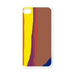 Colorful lines Apple iPhone 4 Case (White)