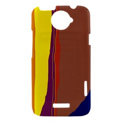 Colorful lines HTC One X Hardshell Case