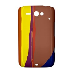 Colorful lines HTC ChaCha / HTC Status Hardshell Case