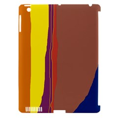 Colorful lines Apple iPad 3/4 Hardshell Case (Compatible with Smart Cover)