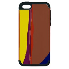Colorful lines Apple iPhone 5 Hardshell Case (PC+Silicone)