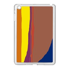 Colorful lines Apple iPad Mini Case (White)