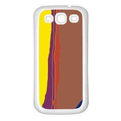 Colorful lines Samsung Galaxy S3 Back Case (White)