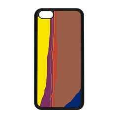 Colorful lines Apple iPhone 5C Seamless Case (Black)