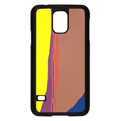 Colorful lines Samsung Galaxy S5 Case (Black)