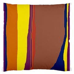 Colorful lines Large Flano Cushion Case (One Side)
