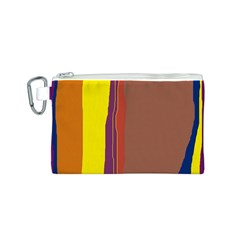 Colorful lines Canvas Cosmetic Bag (S)