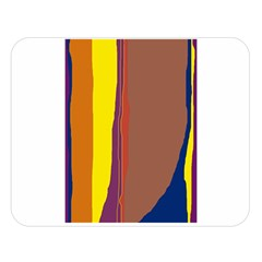 Colorful lines Double Sided Flano Blanket (Large)