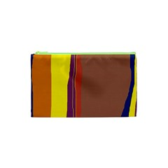 Colorful lines Cosmetic Bag (XS)