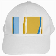 Blue and yellow lines White Cap