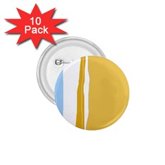 Blue and yellow lines 1.75  Buttons (10 pack)