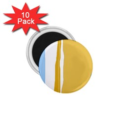 Blue and yellow lines 1.75  Magnets (10 pack)