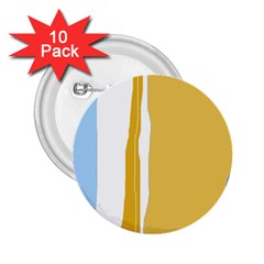 Blue and yellow lines 2.25  Buttons (10 pack)