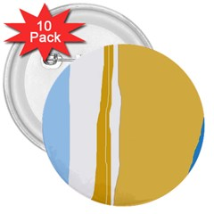 Blue and yellow lines 3  Buttons (10 pack)