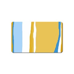 Blue and yellow lines Magnet (Name Card)