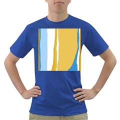 Blue and yellow lines Dark T-Shirt