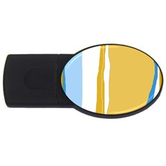Blue and yellow lines USB Flash Drive Oval (4 GB)