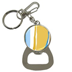 Blue and yellow lines Bottle Opener Key Chains