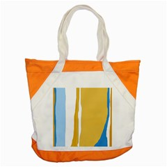 Blue and yellow lines Accent Tote Bag