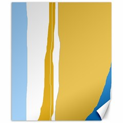 Blue and yellow lines Canvas 8  x 10