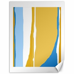Blue and yellow lines Canvas 18  x 24