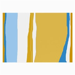 Blue and yellow lines Large Glasses Cloth