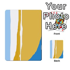 Blue and yellow lines Multi-purpose Cards (Rectangle)