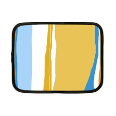 Blue and yellow lines Netbook Case (Small)