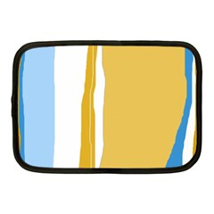 Blue and yellow lines Netbook Case (Medium)
