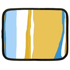 Blue and yellow lines Netbook Case (Large)