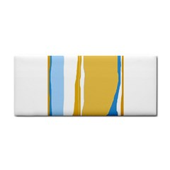 Blue and yellow lines Hand Towel