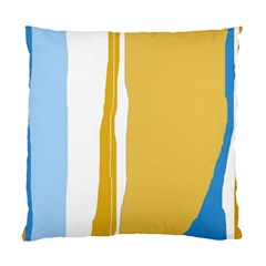 Blue and yellow lines Standard Cushion Case (One Side)