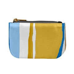 Blue and yellow lines Mini Coin Purses