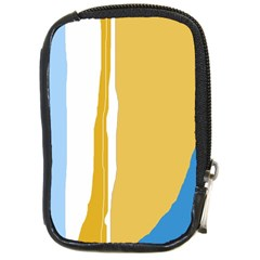 Blue and yellow lines Compact Camera Cases