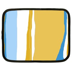 Blue and yellow lines Netbook Case (XXL)
