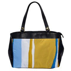 Blue and yellow lines Office Handbags