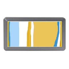 Blue and yellow lines Memory Card Reader (Mini)
