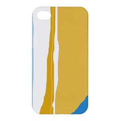 Blue and yellow lines Apple iPhone 4/4S Hardshell Case