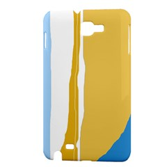 Blue and yellow lines Samsung Galaxy Note 1 Hardshell Case