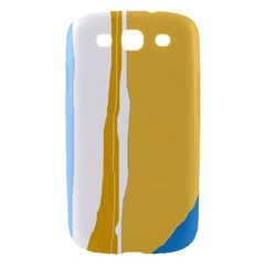 Blue and yellow lines Samsung Galaxy S III Hardshell Case