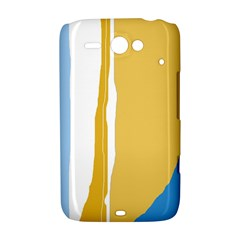 Blue and yellow lines HTC ChaCha / HTC Status Hardshell Case