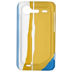 Blue and yellow lines HTC Incredible S Hardshell Case
