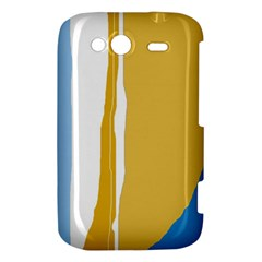 Blue and yellow lines HTC Wildfire S A510e Hardshell Case