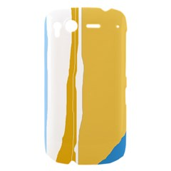 Blue and yellow lines HTC Desire S Hardshell Case