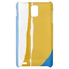 Blue and yellow lines Samsung Infuse 4G Hardshell Case