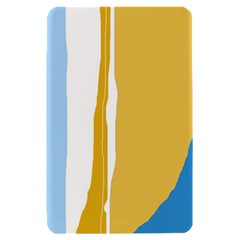 Blue and yellow lines Kindle Fire (1st Gen) Hardshell Case