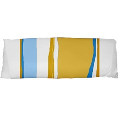Blue and yellow lines Body Pillow Case Dakimakura (Two Sides)