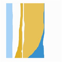 Blue and yellow lines Large Garden Flag (Two Sides)